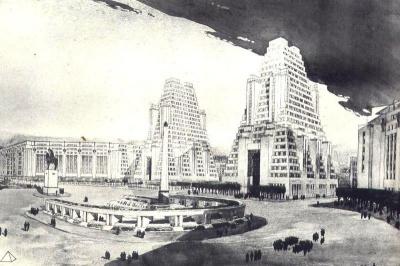 Projet d'Henri Sauvage pour la porte Maillot, 1931