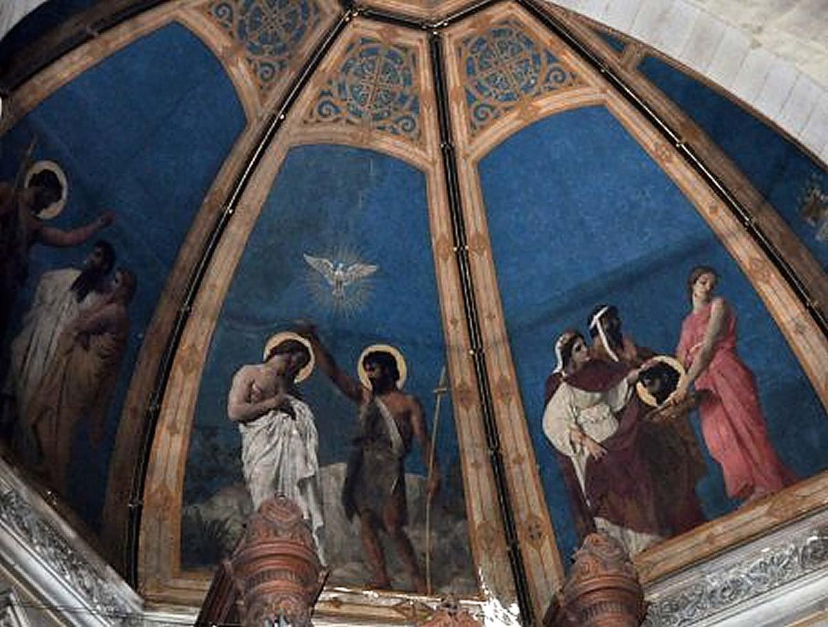 Saint-Augustin, fresque orgue choeur
