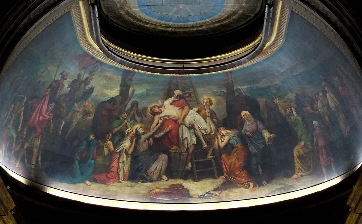 Saint-Philippe-du-Roule, descente de croix (Chassériau), choeur.