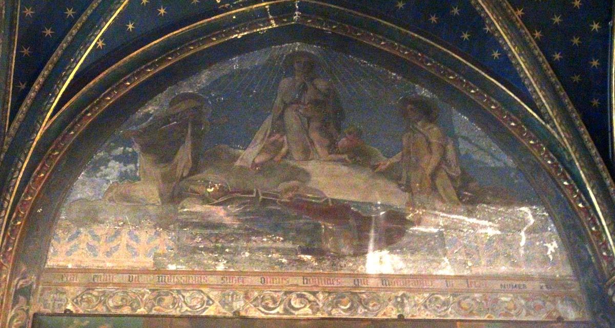 Saint-Séverin, fresque chapelle Saint-François-de-Sales (Photo D. Rykner)